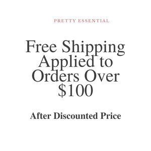 Free Shipping Applied to Orders Over $100